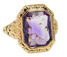 Striking Antique Amethyst Ring