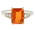 Gift Worthy 1.3 C Fire Opal Vintage Ring
