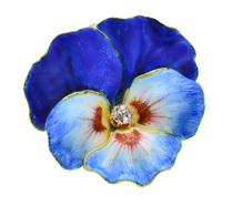 Art Nouveau Pansy Flower Pendant