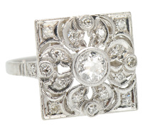 Bling Blossom - Platinum Diamond Ring