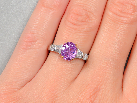 Provocative Purple No Heat Sapphire Ring