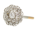 In Flower - Antique Diamond Filigree Ring