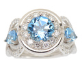 Dallas Prince Aquamarine Diamond Ring