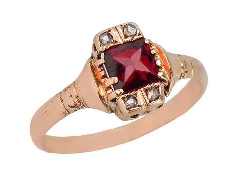 Sweeter Than Wine Vintage Garnet Ring