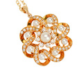 Vintage Diamond Pearl Pendant & Chain
