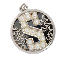 "Sweet Heart - Pearls & Palladium ""S"" Locket"