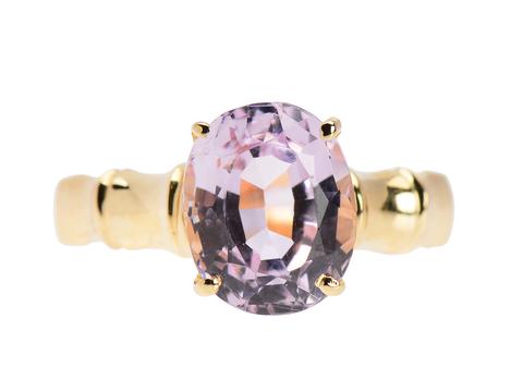 Luscious Kunzite Solitaire Ring