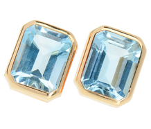 Blue Blazes Estate Gemstone Stud Earrings