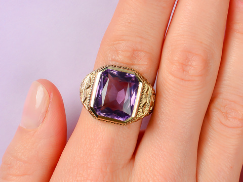 Jungle Gem - Amethyst Ring of 1939