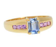 Boy Meets Girl - Blue & Pink Sapphire Ring