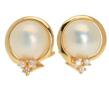 Mastoloni Mabé Pearl Diamond Earrings
