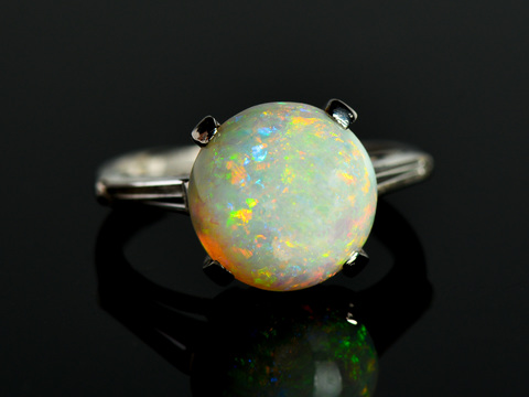 Watery Depths Estate Opal Ring