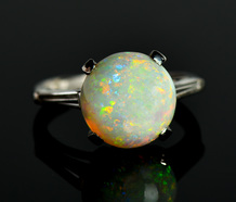 Watery Depths - Estate Australian Opal Ring