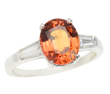 Sunset Reverie - Orange No Heat Sapphire Ring GIA