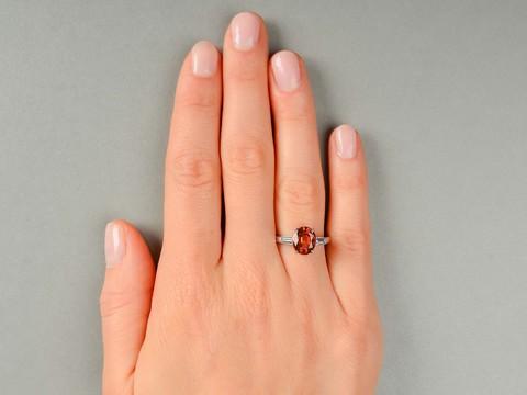 Sunset Reverie - Orange No Heat Sapphire Ring GIA