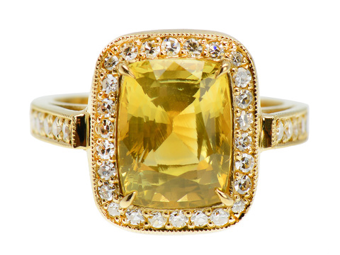 Summer Soft - GIA Yellow Sapphire Ring