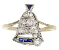 Ring My Bell - Diamond Sapphire Moveable Jewel