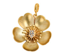 Petal Pleasing - Flower Diamond Gold Pendant