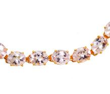 25 C. Oval Morganite Link Bracelet