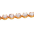 25 C. Oval Morganite Link Bracelet
