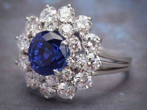 Tiffany & Co. Burmese No Heat Sapphire Ring