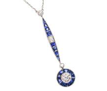 Art Deco Sapphire Diamond Necklace