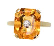 Citrine Sensation - Vintage Diamond Ring