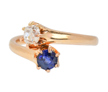 Antique Me & You Sapphire Diamond Ring