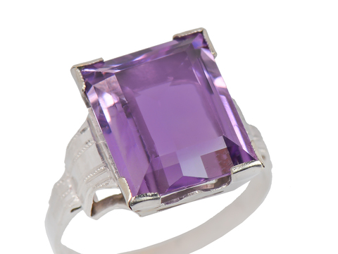 Art Deco Lilac Amethyst Ring