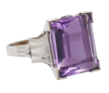 Art Deco Lilac Amethyst Ring