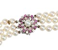 1950s Glam - Triple Strand of Pearls