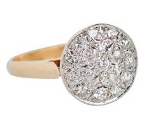 Pavé Set Diamond Vintage Engagement Ring