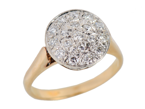 Pavé Set Diamond Vintage Engagement Ring
