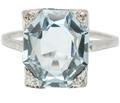 Vintage Variation - Art Deco Aquamarine Ring