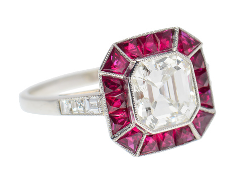 Red Revelation - Aascher Diamond Ruby Ring