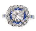 Vibrancy - Sapphire Diamond Statement Ring