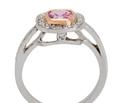 Estate Halo Pink Spinel Diamond Ring