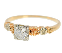 Eco Friendly Vintage Engagement Ring