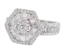 Ablaze - Diamond Baguette Estate Ring