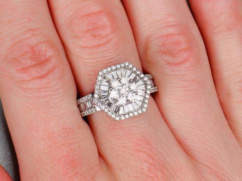 Ablaze - Diamond Baguette Estate Ring
