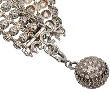 Antique French Silver Link Bracelet & Charm