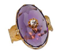 A Grande Affair - Amethyst Diamond Ring