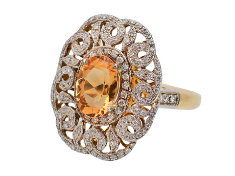 Wonder Whorls - Precious Topaz Diamond Ring