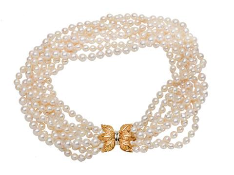 Italian Cultured Pearl Torsade Necklace