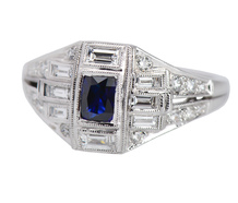 Baguette Beaty - Geometric Inspired Sapphire Ring