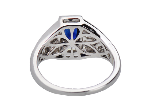 Baguette Beauty - Geometric Inspired Sapphire Ring