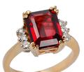 Garnet Glow - Diamond Ring