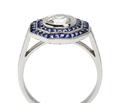 Come Alive - Double Halo Diamond Sapphire Ring