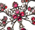 Georgian Splendor - Garnet Bow Pendant Slide