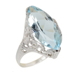 Filigree Fancy - Art Deco Aquamarine Ring